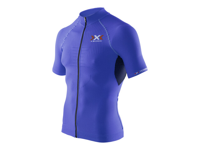 X-Bionic The Trick Biking Shirt SS Full Zip Men Royal Blue/Black
